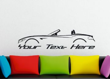 Large Custom car silhouette wall sticker - for BMW Z4 roadster E89 (2009–2016) convertible